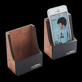 質感復古木紋手機座
